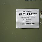 The hat party, Brixton London June 2010 by Anna  Goodhind