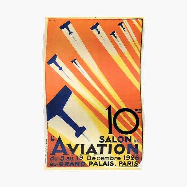 Salon De Aviation Meet 1926 Paris France Vintage Airplane Poster