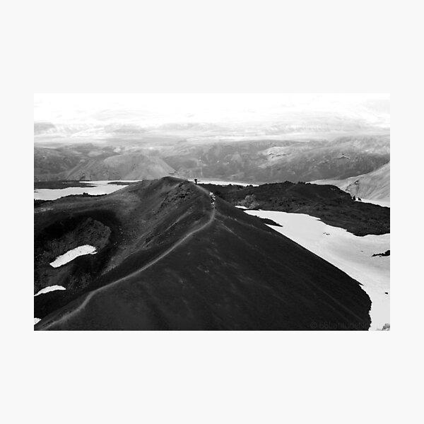 Iceland Wanderung über den Vulkan Fotodruck