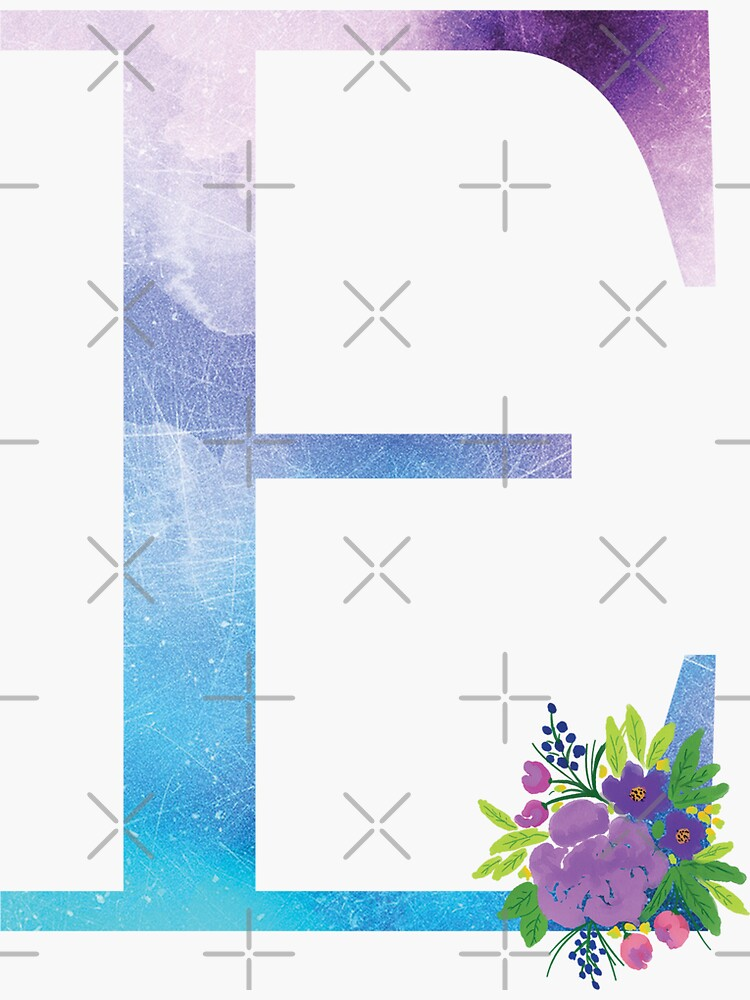 Floral Monogram Letter E by tribbledesign