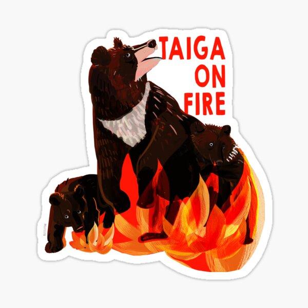 Taiga on Fire #1 Pegatina