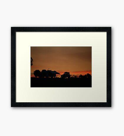 Camping Modern Style by Robyn J. Blackford Framed Print