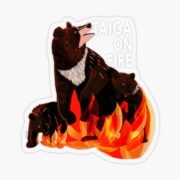 Taiga on Fire #2 Pegatina transparente