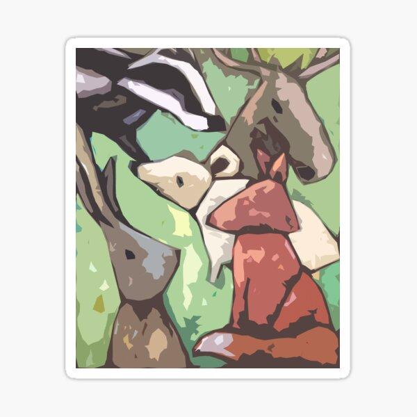 Animal friends Sticker