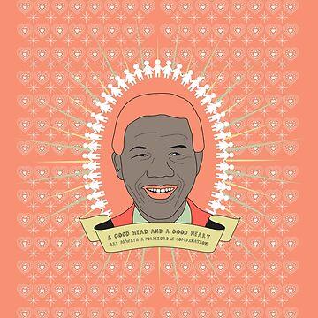 Tata Madiba - A Good Heart (in peach) by CatherineKita