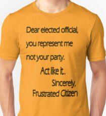 Dear Elected Official Unisex T-Shirt