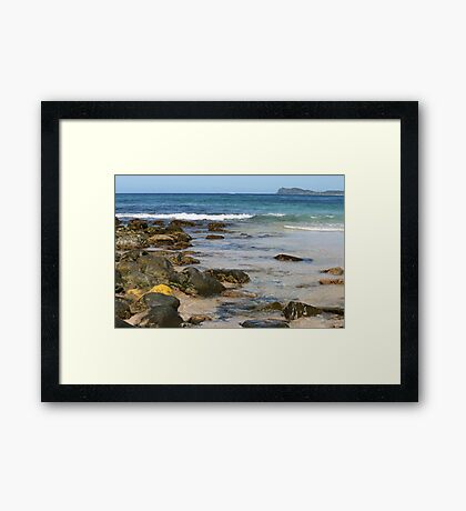 Celito Beach, Sandbar, NSW Framed Print