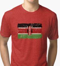 Kenia Flagge - Vintage-Look Vintage T-Shirt