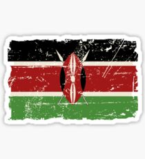 Kenya Flag - Vintage Look Sticker