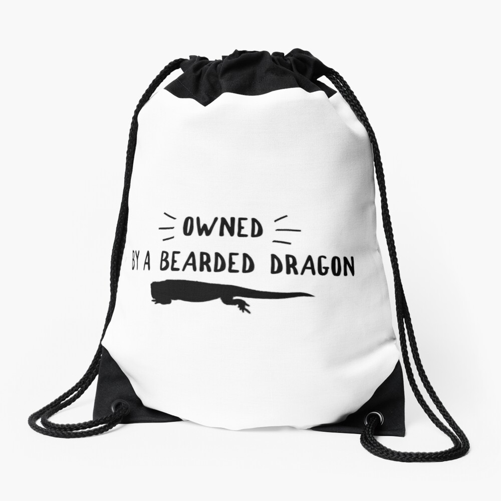 Owned By A Bearded Dragon Drawstring Bag