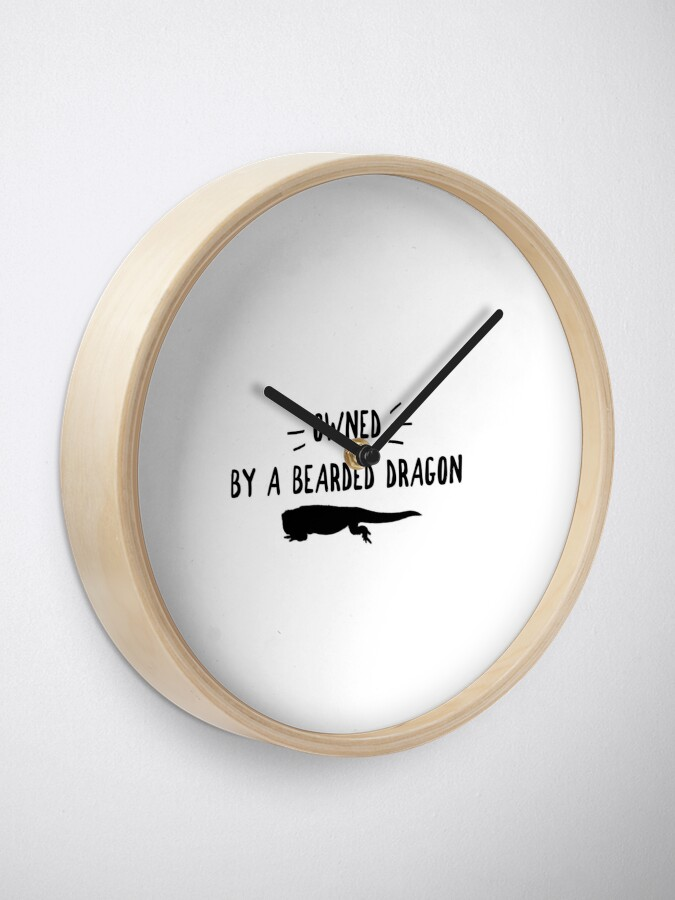 Alternate view of Owned By A Bearded Dragon Clock