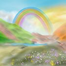Rainbow in the valley by Phantus