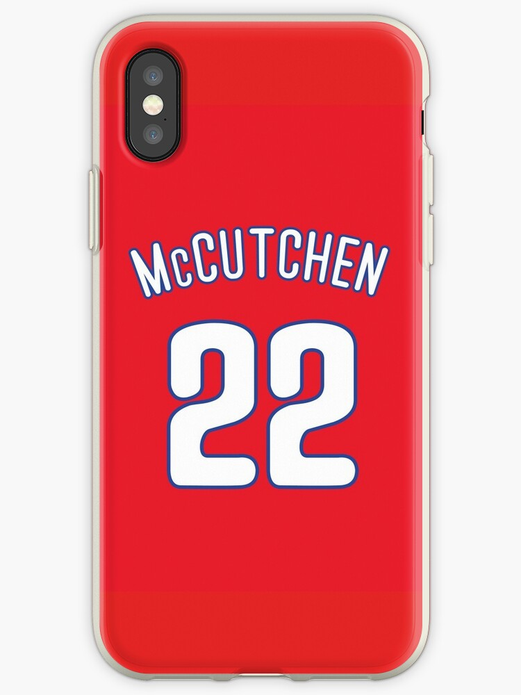 finest selection 9bb66 95de2 'Andrew McCutchen Phillies Jersey' iPhone Case by csmall96