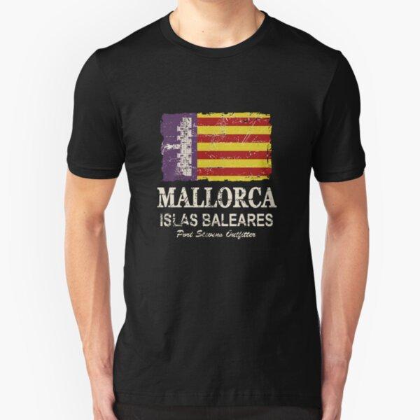 Majorca - Mallorca -  Flag - Vintage Look Slim Fit T-Shirt