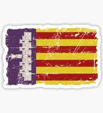 Majorca Flag - Vintage Look Sticker