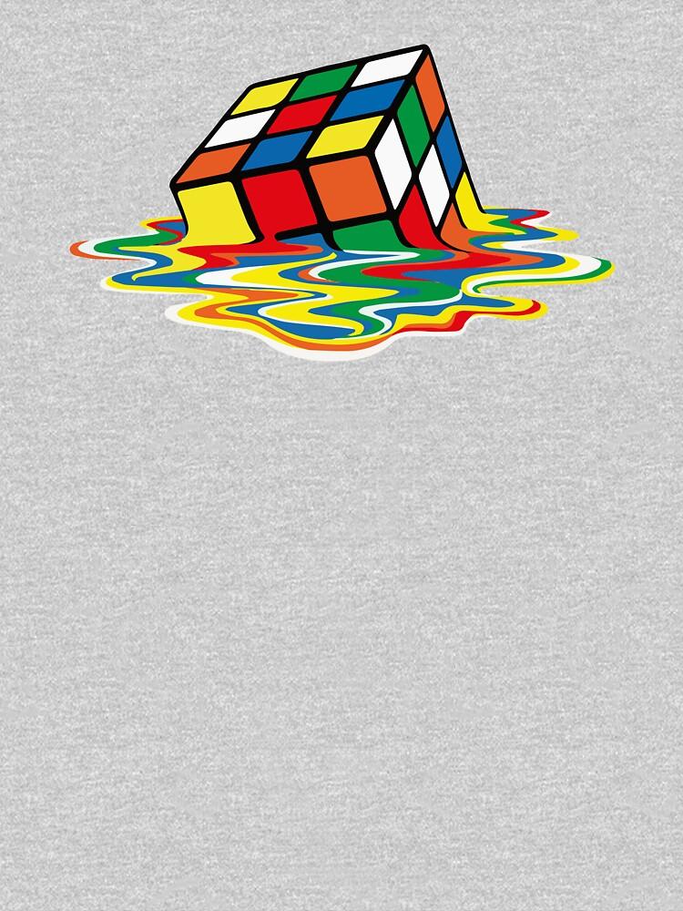 Rubik Cube Melted t Shirt, Original Gift Idea by clothorama