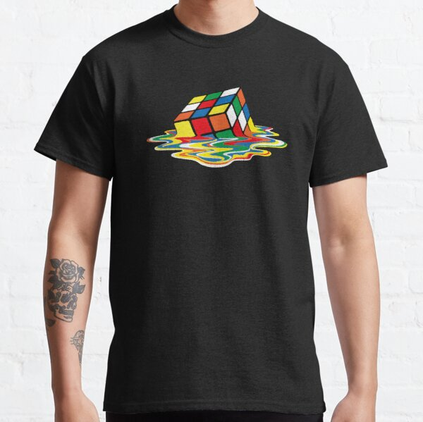 Rubik Cube Melted t Shirt, Original Gift Idea Classic T-Shirt
