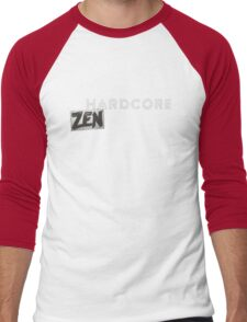 Hardcore Zen Logo Only T-Shirt or Hoodie Men's Baseball ¾ T-Shirt