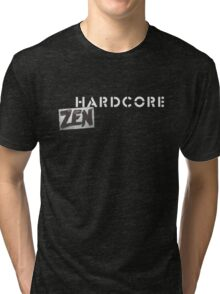 Hardcore Zen Logo Only T-Shirt or Hoodie Tri-blend T-Shirt