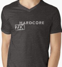 Hardcore Zen Logo Only T-Shirt or Hoodie Mens V-Neck T-Shirt
