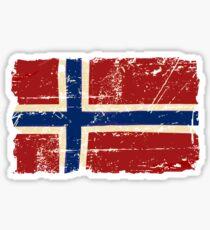 Norway Flag - Vintage Look Sticker