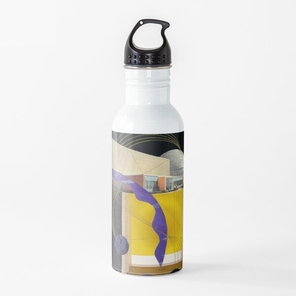 yellow space Water Bottle