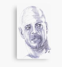 Bruce Willis.....Tribute to Sir  Murphy Canvas Print