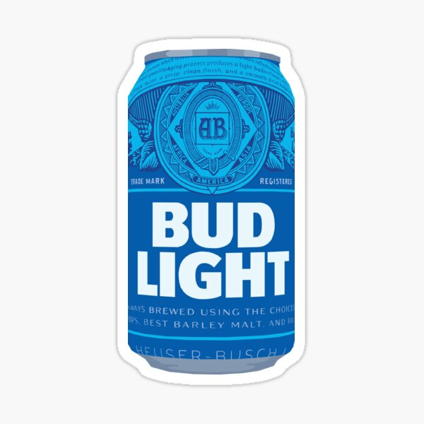 Bud Light Can Sticker