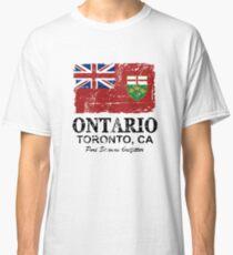 Ontario Flag - Vintage Look Classic T-Shirt