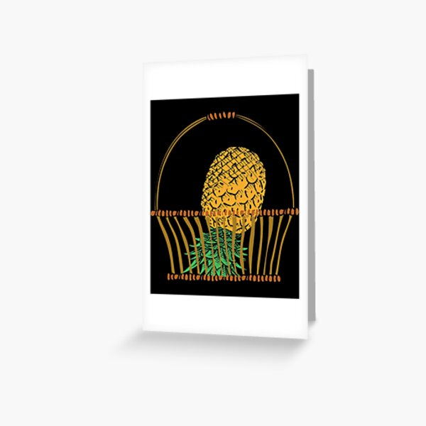 Funny Novelty Upside Down Pineapple Gift design Greeting Card
