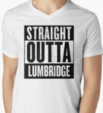 Straight Outta Lumbridge Men's V-Neck T-Shirt