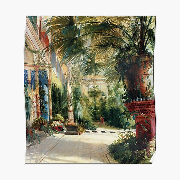Carl Blechen - The Interior of the Palm House Poster