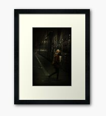 Into The Night... Framed Print