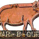 Rustikales Barbecue-Restaurant-Zeichen von mrdoomits