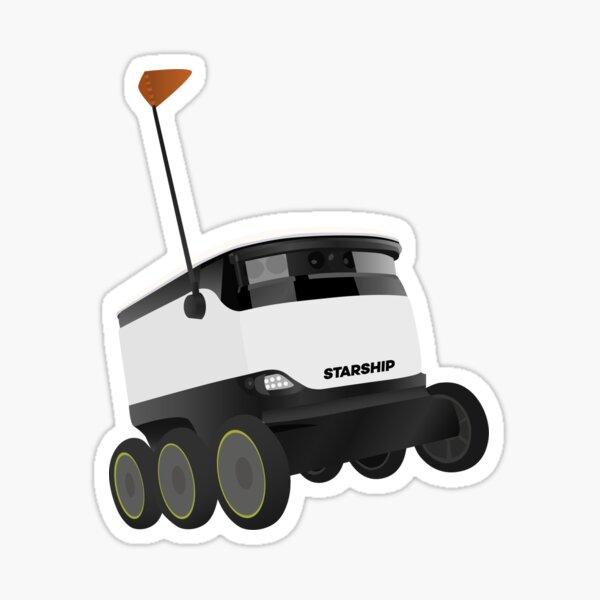 Little Starship Robot Sticker