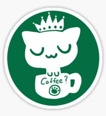 Cat Neko Cafe Sticker