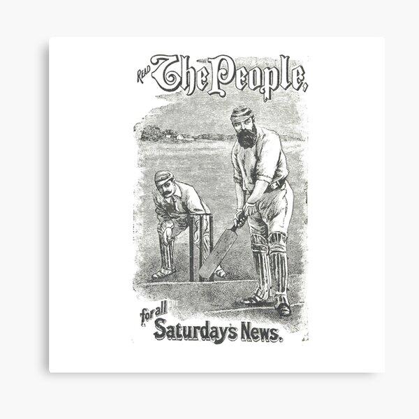 VINTAGE NEWSPAPER COVER - Circa 1895 Canvas Print