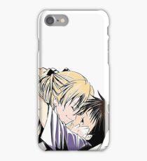 cute kisses anime edit iPhone Case/Skin
