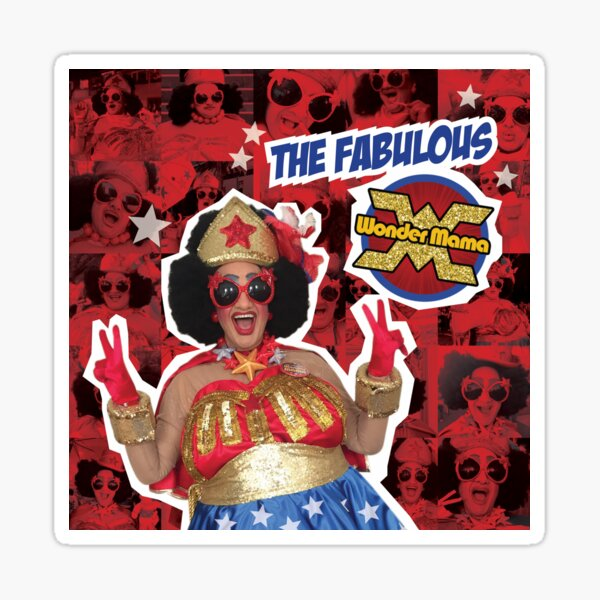 The Fabulous Wonder Mama Collage! Sticker