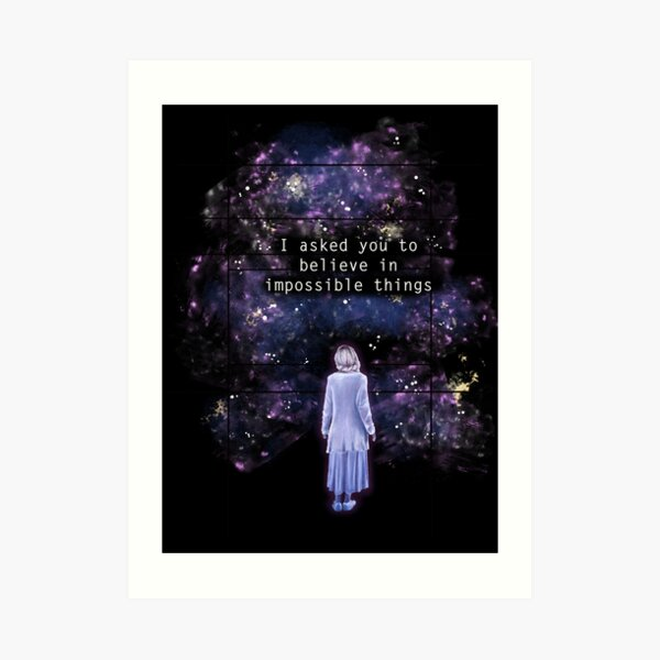 """The OA """"I asked you to believe in impossible things"""" Art Print"""