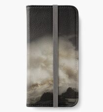 Porthcawl lighthouse and storm iPhone Wallet/Case/Skin