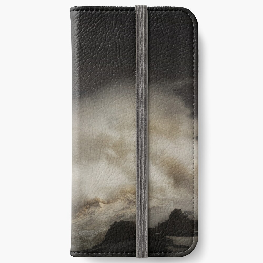 Porthcawl lighthouse and storm iPhone Wallet