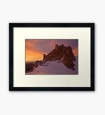 Sunset over Aiguille du Midi (3842 m), France Framed Print