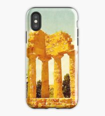 Temple of Castor and Pollux, Valle dei Templi, Agrigento, Sicily, Italy iPhone Case