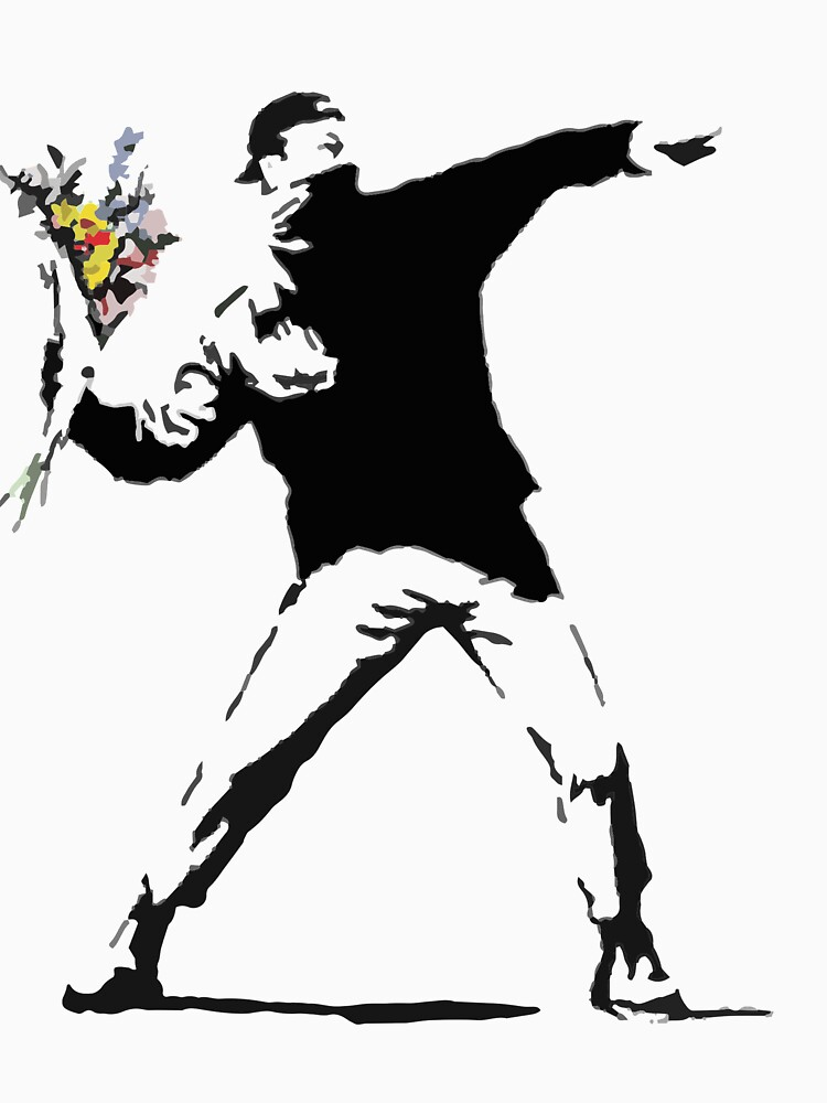 Rage Flower Bomber Stencil by gtcdesign