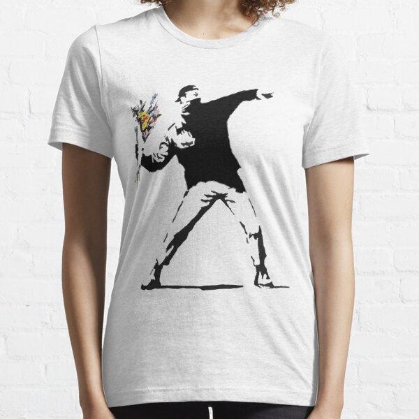 Rage Flower Bomber Stencil Essential T-Shirt