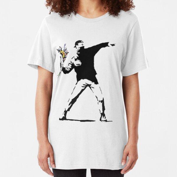Rage Flower Bomber Stencil Slim Fit T-Shirt
