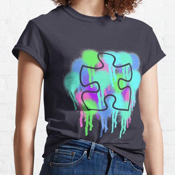 Concienciación sobre el autismo Puzzel Piece Artwork Design Camiseta clásica