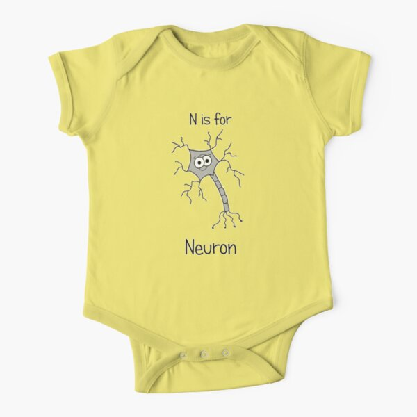 N is for Neuron Short Sleeve Baby One-Piece