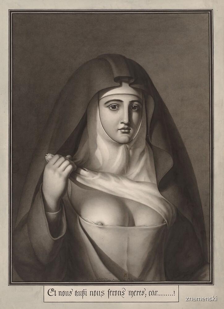 Jean-Jacques Lequeu #Painting, #Visual #Art, #Portrait, Nun, People, Adult, Veil, Religion, Women by znamenski